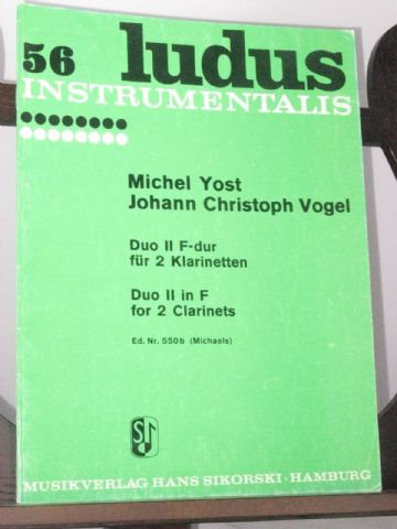 Yost M & Vogel J C - Duo No 2 in F for 2 Clarinets